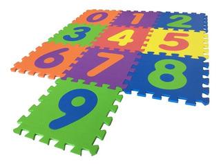 Tapete Fomi Foami Números 31x31 Area De Juegos 10 Piezas