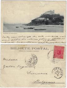 Ba 1908 Cartão Postal Foto Forte De São Diogo Barra Salvador