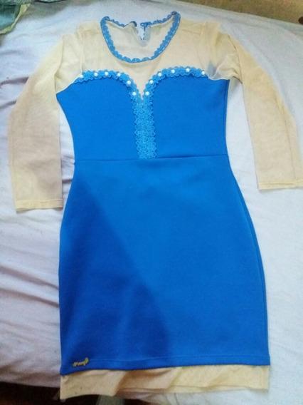 Vestido Colado Azul