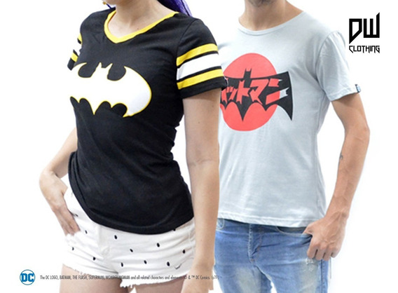 Combo Remeras: Batman Tokio Hombre Y Mujer