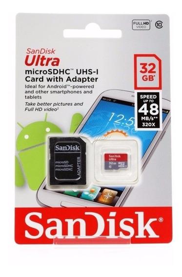Cartão Micro Sdhc 32gb Ultra Sd Sandisk Classe 10 48mb/s
