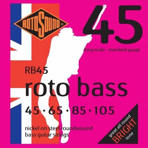 Rotosound Rb45 Roto Bass Encordado .45 Para Bajo