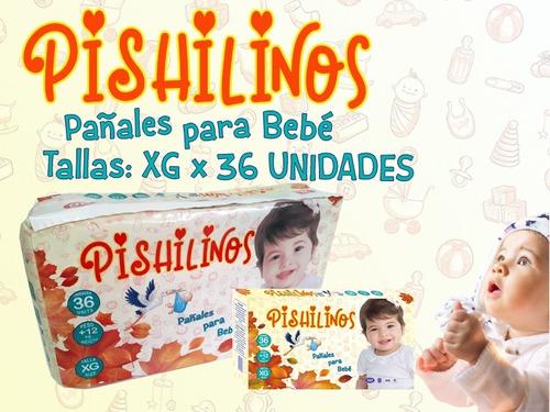 Pañales Bebe Pishilinos - Talla Xg - Bulto X 216 Unds