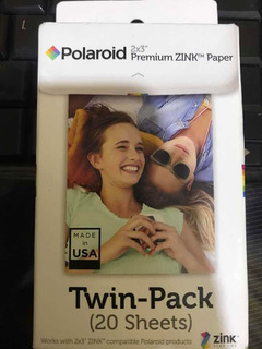 Twin Pack (20) Zink Papel Polaroid 2x3
