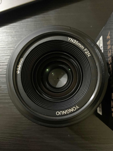Lente Yongnuo 35mm 2.0 Para Câmera Nikon, 2 Meses De Uso