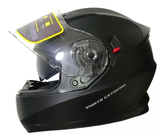 Casco Moto Integral Xr600 Doble Visor Punto Extremo