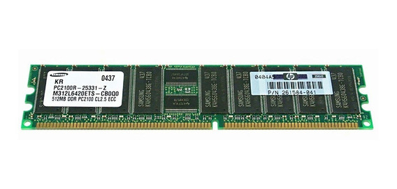 Memoria Ram Hp 261584-041 512mb 266mhz Pc-2100