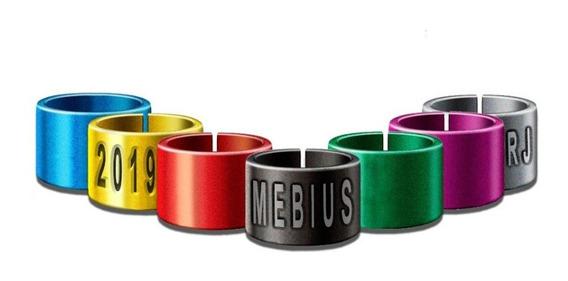 Anilhas Canário Belga 3,0mm Coloridas Personalizadas De Marcação A Laser E Baixo Relevo Alumínio Pacote Com 10 Units