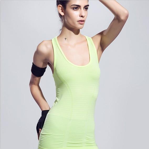 Las Mujeres De Compresión De Yoga Deportivo Con Chaleco De
