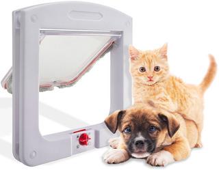 Portinha Porta De Passagem P/ Gato Cachorro Pet Door 4 Em 1