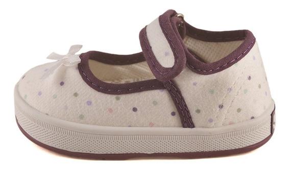Guillermina Bebe Lunares Blanco-violeta Small Shoes