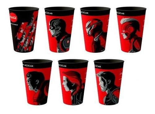 Coleção Completa 7 Copos Coca Cola Vingadores