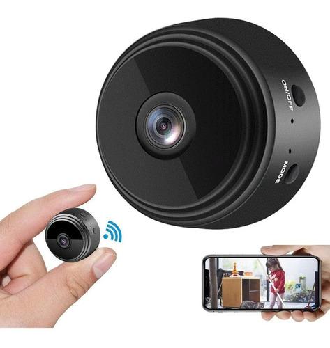 Imagem 1 de 4 de Mini Câmera Wifi Ip Filma No Escuro Com Infra Espiã Portátil Pega Traição Marido/esposa