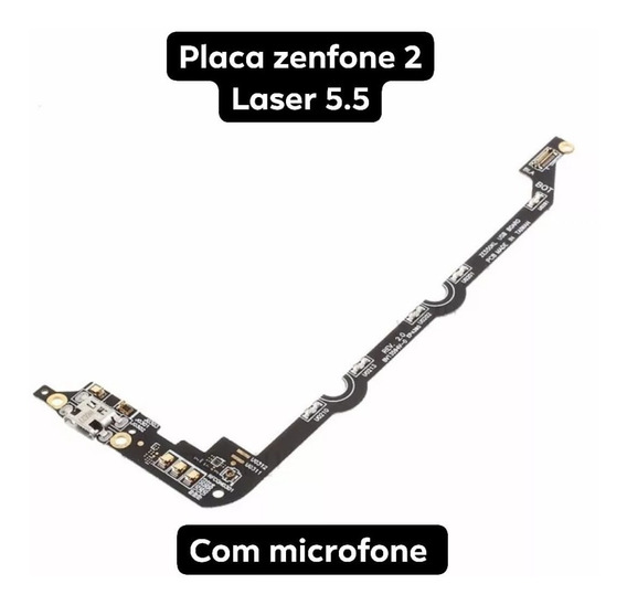 Placa Completa Zenfone 2 Laser 5.5 Carga Micro Usb Microfone
