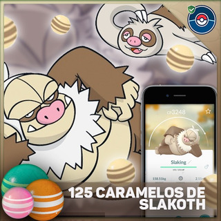 125 Caramelos De Slakoth En Pokemon Go - Pokeservicios