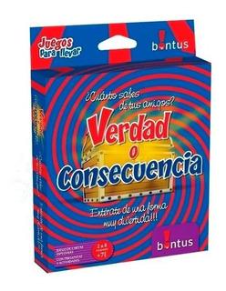 Verdad O Consecuencia - Juego De Cartas Bontus Ploppy 175314