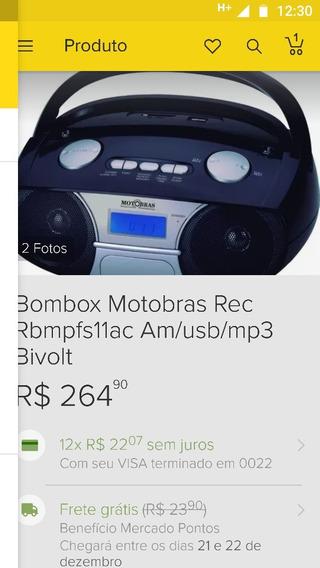 Rádio Motobras Com Usb