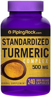 Turmeric Curcumina E Piperine 500mg 240 Cap Açafrão Envio Já