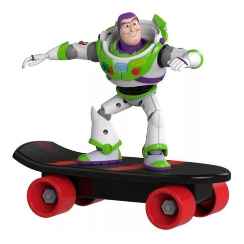 Imagen 1 de 4 de Buzz Lightyear Toy Story 4 Muñeco Con Patineta A Fricción