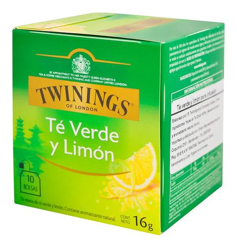 Te Verde Y Limon Twinings Caja X10 Sobres - 01mercado