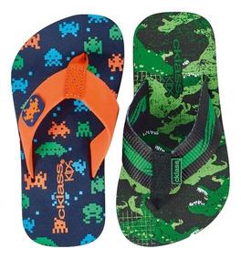 Paq Sandalia Huarache Cklass Niños Textil Sint Vde Dtt D803