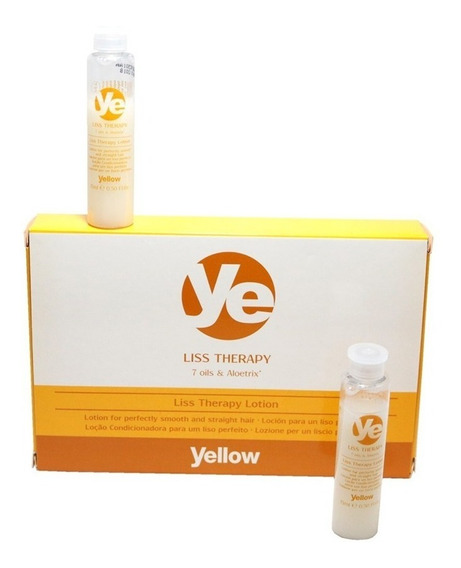 Yellow By Alfaparf Ampollas Liss Therapy X6 15ml Pago Cuotas