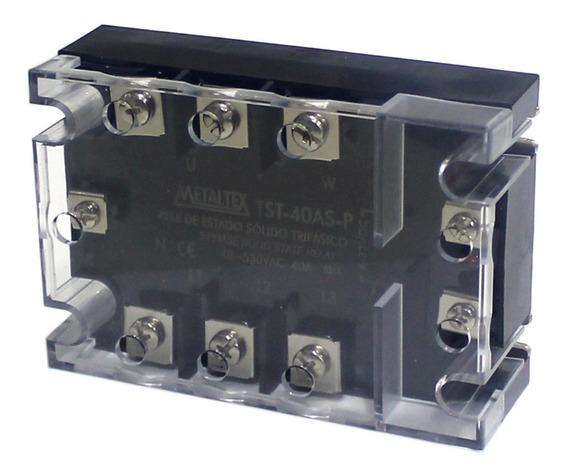 Rele De Estado Solido Trifásico Tst-40as Metaltex