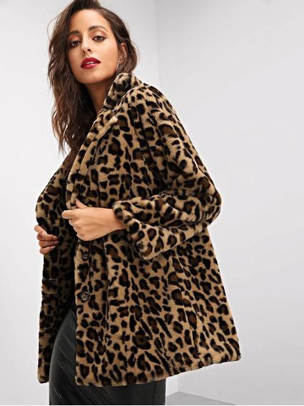 100% de garantía de satisfacción muchos de moda especial para zapato Abrigo Leopardo Print Pelo Sintetico Pull And Bear - Ropa ...