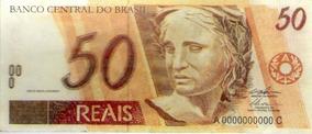 Nota Cédula Dinheiro 50 Reais Em Miniatura