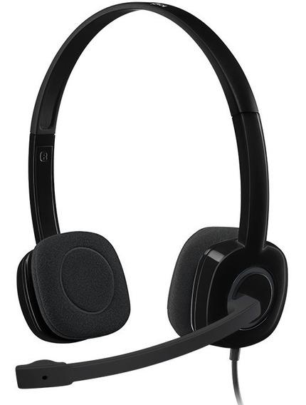 Fone Headset Logitech H151 P2 Com Microfone Para Pc Jogos