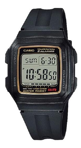 Relógio Casio Masculino Vintage F-201wa 9ad Preto Digital