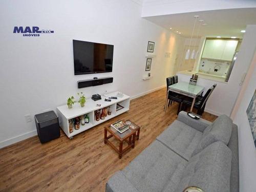 Imagem 1 de 15 de Apartamento Residencial À Venda, Barra Funda, Guarujá - . - Ap8887