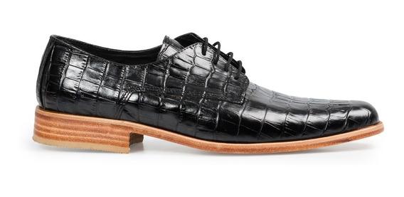 Tremendo Scarpe Zapato Hombre Sport Cuero Cocodrilo