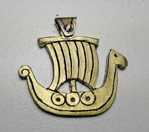 Dije Vikingo Drakkar Medieval Hecho A Mano