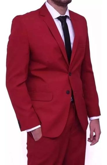 Terno Completo - Com Blazer E Calça - Slim Fit - Corte Italiano