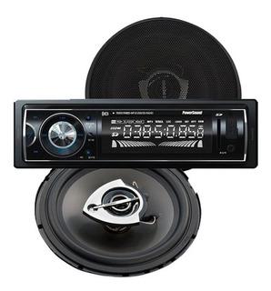 Kit Radio De Auto Bluetooth Usb Aux + 2 Parlantes 100w 4