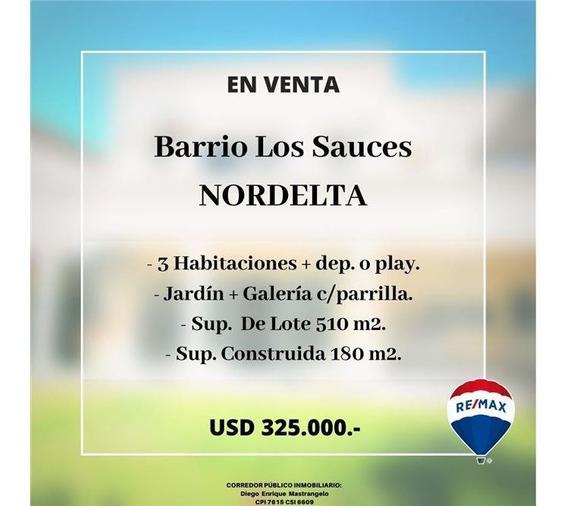 Casa En Venta-barrio Los Sauces, Nordelta, 4 Dorm.