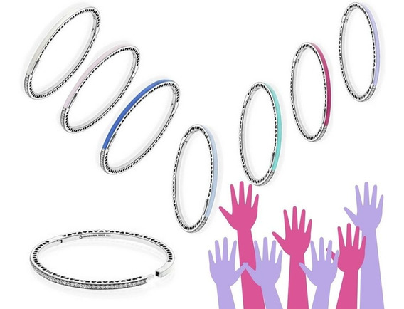 Bracelete Corações Radiantes Lilás
