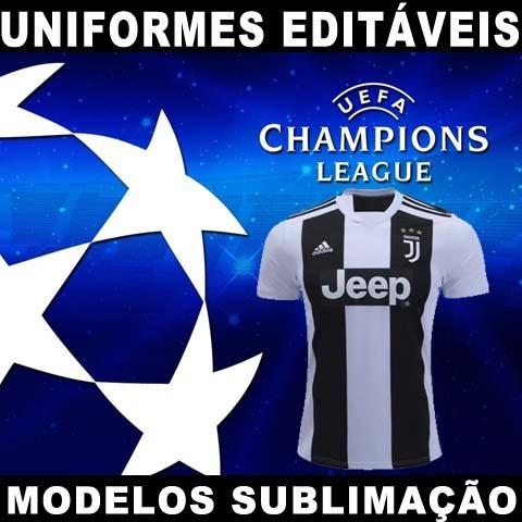 Uniformes Editáveis Champions League Times Europa Fardamento