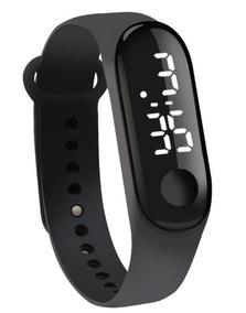 Relógio Digital De Led Com Pulseira De Silicone Led Branco