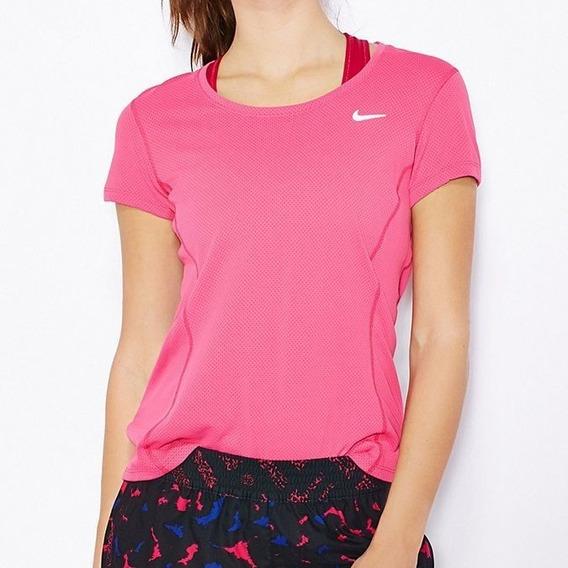 Camiseta Nike M/c Dri Fit Contour Feminina Original + Nf