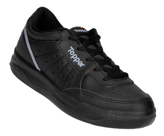Zapatillas Topper X Forcer Adulto Cuero Negro 21872