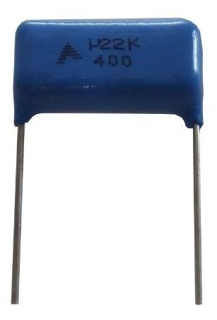 Imagem 1 de 1 de Capacitor Poliester 220nf K 400v U22 K Pacote Com 10un