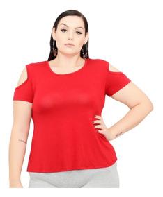 Roupa Feminina Blusa Bata De Malha Viscolycra Plus Size