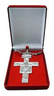 Cruz Peitoral São Damião - 9,5cm X6,5cm