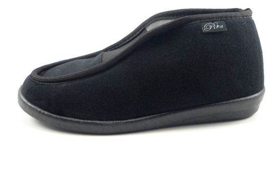 Zapato Bota De Dama De Pana Negra Elastizado