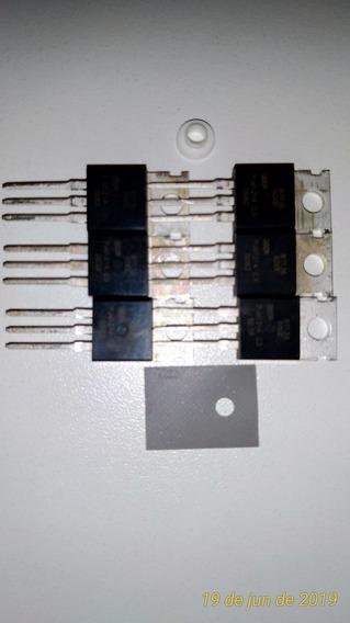 Bta136 Triac 6 Pçs + 6 Isoladores Silicone E Anilha Plastica