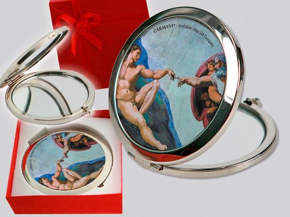Espejo Tapa Superior En Cristal La Creación De Michelangelo