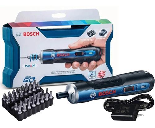 Parafusadeira Bosch Go 3,6v Com Carregador Usb Com Kit Ponta