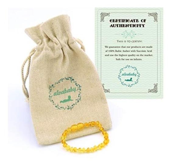 Pulseira De Ambar Para Bebe 15cm - Original C/ Certificado